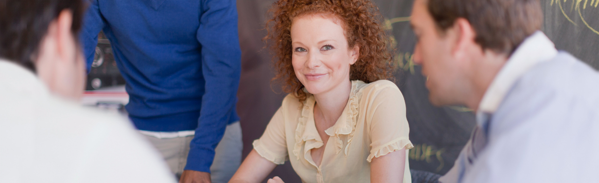 Businessteam am Tisch